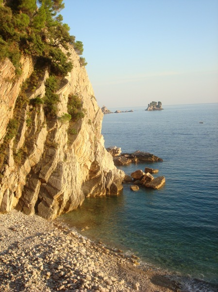 Limestone cliffs along the Adriatic Sea - Petrovac, Montenegro