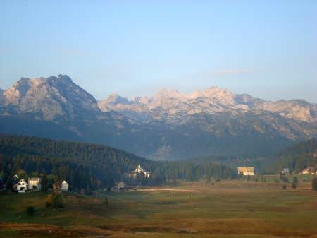 Mountains over the town of Zabljak - Durmitor, Montenegro